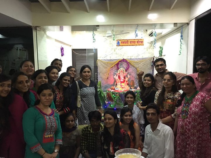 Shree Ganeshay Namah...Maha Aarati @ Mission Health  Maninagar with chhapan bhog...