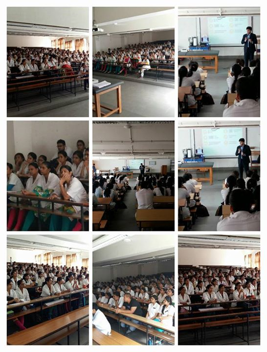 Interaction with Students/Interns of Goverenment Physio College, Civil hospital campus.