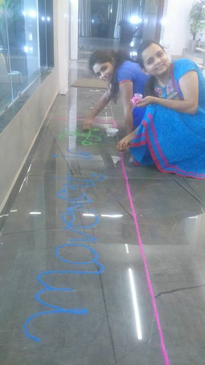 Superb Rangolis @ Mission Health...Movement is Life...Happy Diwali...