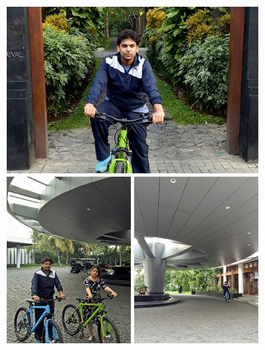 Cycling in axtion @ 6 a.m. Bali.