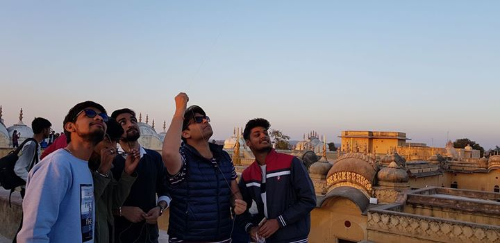 Kite Flying from the top of Nahargarh Fort... #RoyalJaipur #IncredibleIndia