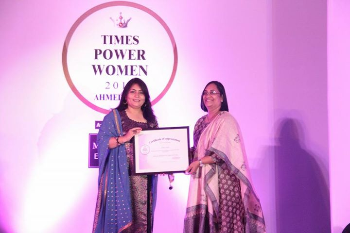It is Hat-Trick...3rd Consecutive award in last 2 Months...Dr. Disha Shah receives the most Prestigious