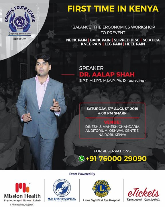 Pumped up for delivering an insightful workshop on #Ergonomics at #Kenya!   Save your dates!  #MissionHealth #MissionHealthIndia #AbilityClinic #MovementIsLife #Workshops #AalapShah #SpineSpecialist #Ergonomics #ErgonomicsWorkshop #IndianDoctors #Kenya #WorkshopsInKenya