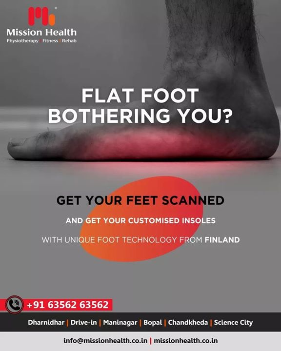 Don't let your flat foot become a reason of everyday discomfort!  #FlatFoot #MissionHealth #FootClinic #MissionHealthIndia #MovementIsLife