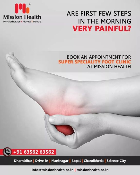 The Mission Health Foot Clinic strives to eliminate the root cause rather than symptoms of any foot pain, injury or deviations.   FOOT CLINIC helps reduce pain with the help of advanced Non-Surgical Pain Technologies, Muscle Re-education Exercises, and Biomechanical Footwear Modifications.  Call: +916356263562 Visit: www.missionhealth.co.in   #footclinic #footcare #footdoctor #footpain #feet #heelpain #MissionHealth #MissionHealthIndia #MovementIsLife