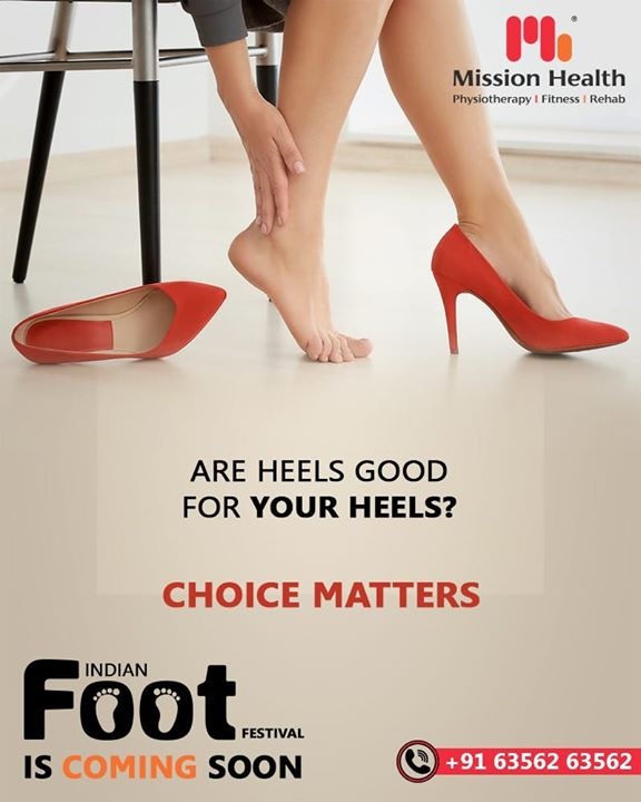 Footwear is surely considered an integral part of one's Fashion Statement.   However, have you ever bothered about how your heels affect your feet when you stress them the entire day by wearing high-heeled sandals?   Many such facts are to be revealed at the First-Ever FOOT Festival in India by Mission Health...  The Indian Foot Festival is coming soon...  Keep Reading this space for more updates!  Call: +916356263562 Visit: www.missionhealth.co.in  #IndianFootFestival #ComingSoon #FootClinic #footpain #footcare #foothealth #heelpain #anklepain #flatfeet #painrelief #healthyfeet #happyfeet #MissionHealth #MissionHealthIndia #MovementIsLife
