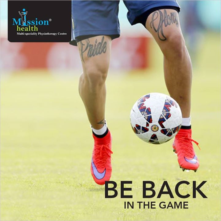 Get back to Game... #MissionHealth #SportsRehab India's 1stEver Chain of MultiSpeciality Physiotherapy Centre & Medical Gym