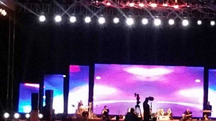 Enjoying Rahat Fateh Ali khan musical night...