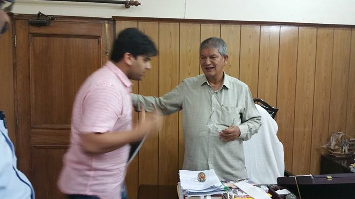 From Dehradun Diaries # With Uttrakhand Chief Minister Shri Harish Rawat sir # Great hospitality by Government of Uttrakhand.