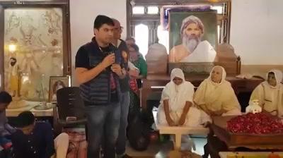 Humbled by this  Honour from Resp. Sadhviji Maharaj saheb & Trustees of Jain Sangh @ Mahudi today morning...
