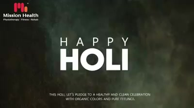 This holi, let's pledge to a healthy and clean celebration with organic colors and pure feelings.  #HappyHoli2020 #Holi2020 #HappyHoli #होली #Holi #IndianFestival  #RangBarse #Colours #FestivalOfColours #MissionHealth #MissionHealthIndia #AbilityClinic #MovementIsLife
