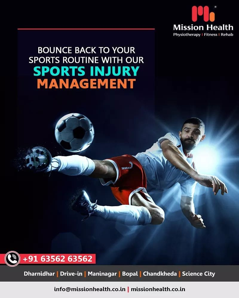 Don't let any injury affect your sports routine! Our team of experts will ensure you return to routine within no time!  #SportsInjuryManagement #SportsInjury #MissionHealth #MissionHealthIndia #AbilityClinic #MovementIsLife
