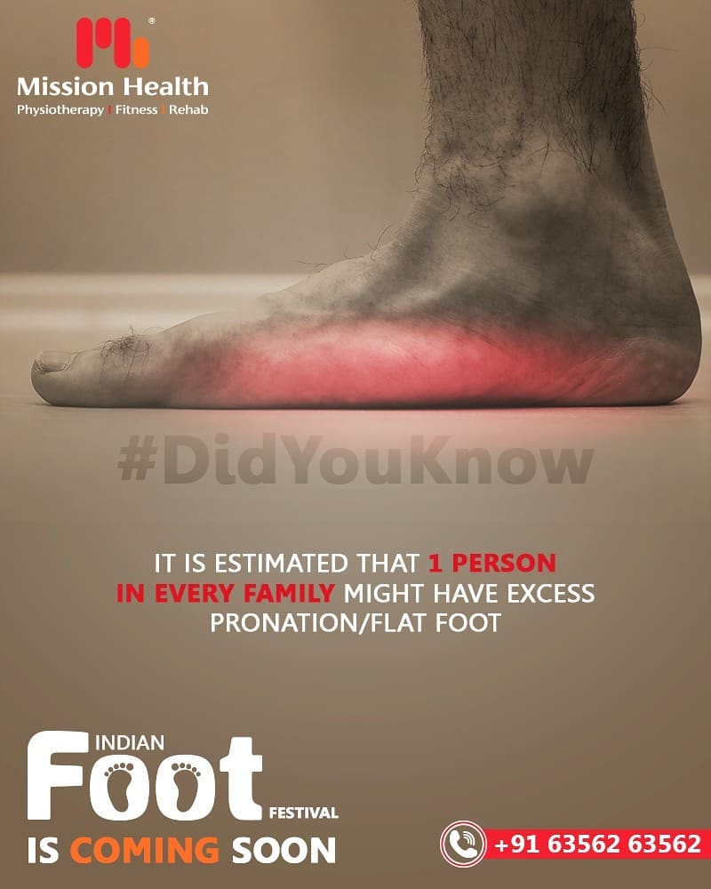 It is estimated that 1 PERSON in EVERY FAMILY might have excess Pronation/Flat Foot!  Your Foot Health can be a clue to many other issues!  The Indian Foot Festival is coming soon... Keep Reading this space for more updates!  Call: +916356263562 Visit: www.missionhealth.co.in  #IndianFootFestival #ComingSoon #FootClinic #footpain #footcare #foothealth #heelpain #anklepain #flatfeet #painrelief #healthyfeet #happyfeet #MissionHealth #MissionHealthIndia #MovementIsLife