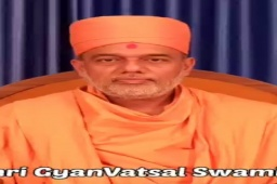 I feel highly Obliged and Gratified on hearing these words of Motivation from Pujya Shri Gyanvatsal Swami Himself.  You are a true source of Positivity for millions including myself. I Sincerely pray to keep bestowing your blessings, as always.